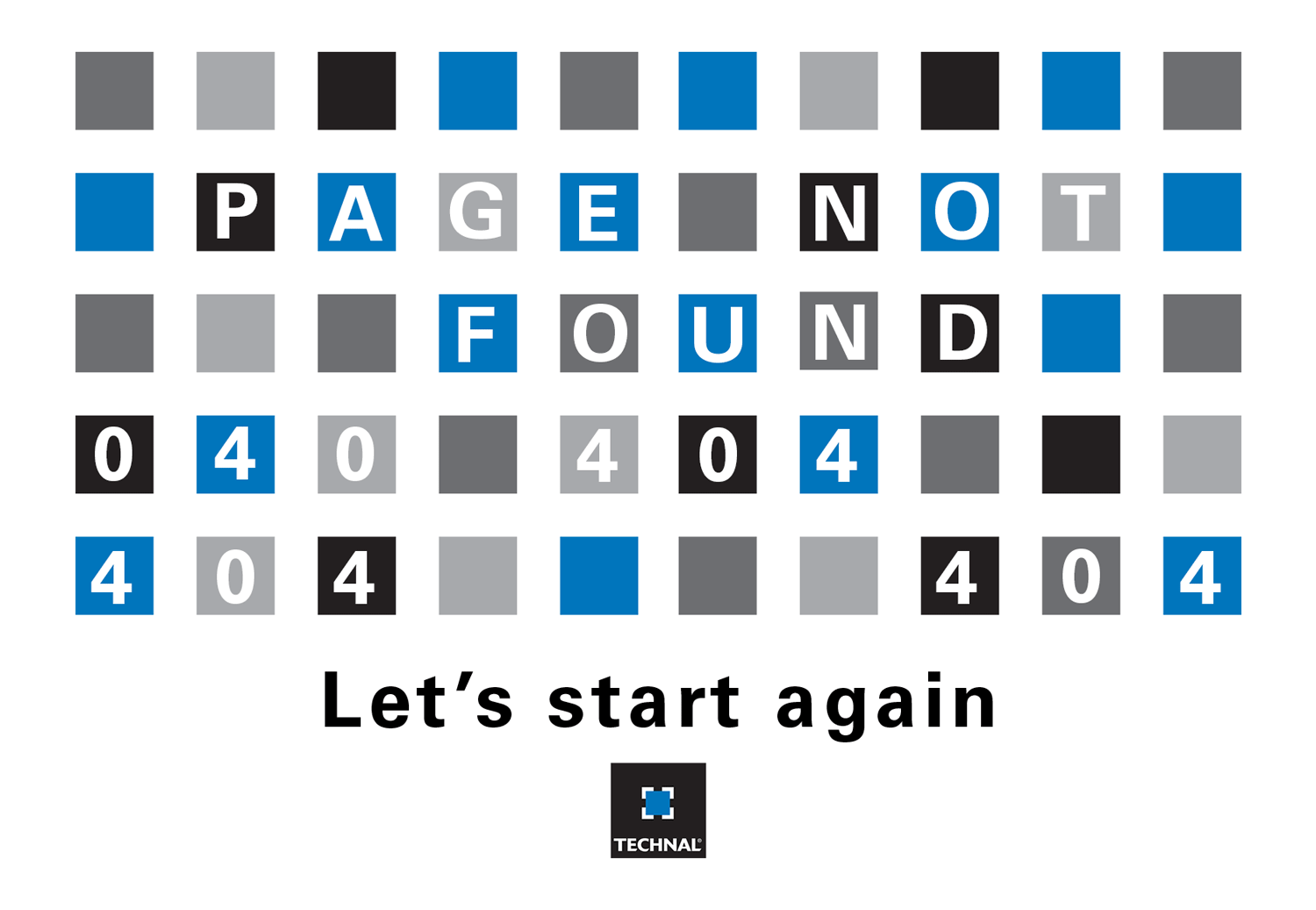 Page not found let's start again