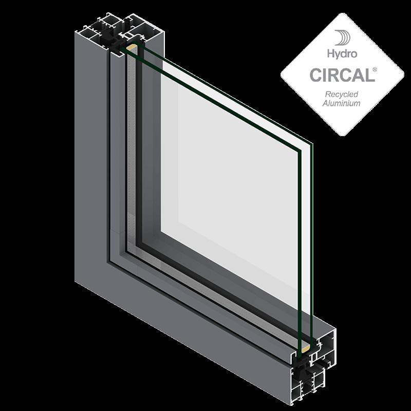 Fenêtre et porte fenêtre aluminium 55mm Ouvrant Caché ...