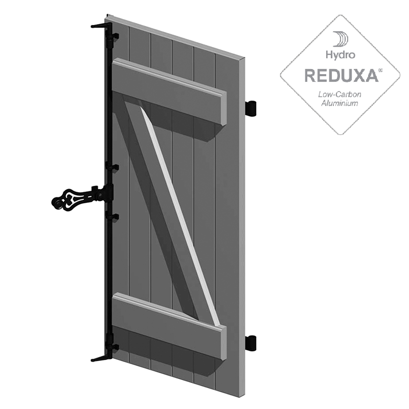 Tradictional solution of hinged shutter