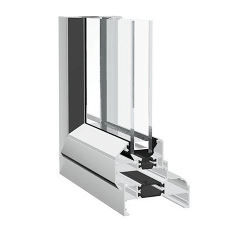 Aluminium window CROWN side-hung