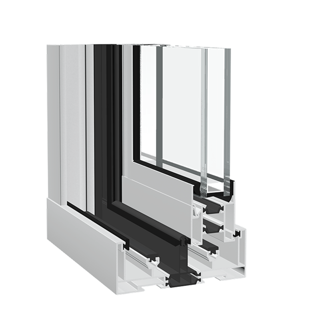 Aluminium window Dualslide Horizontal
