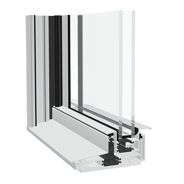 Aluminium window DualSLIDE Vertical Sliding
