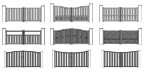 portail alu battant ou coulissant technal. Black Bedroom Furniture Sets. Home Design Ideas