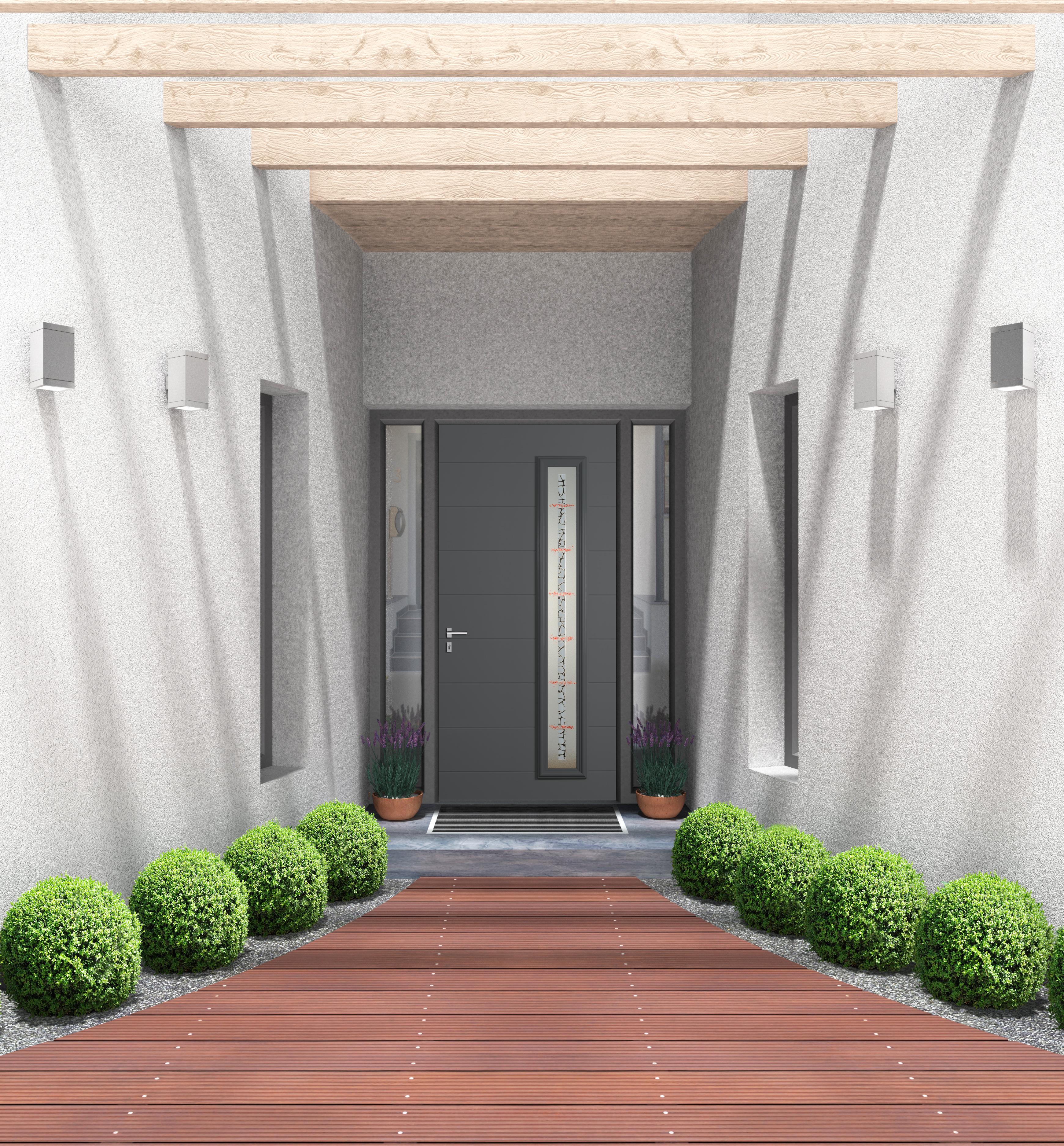 Porte d 39 entr e aluminium technal for Reparation porte d entree