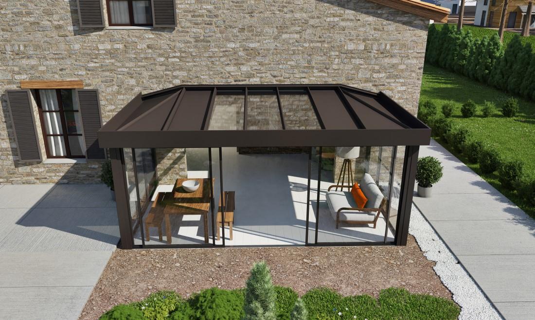 veranda alu technal. Black Bedroom Furniture Sets. Home Design Ideas