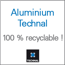 Aluminium Technal, 100% recyclable