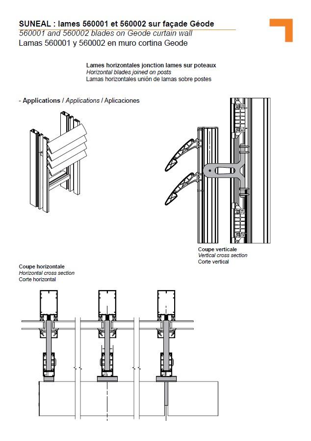 lamas horizontales uni n de lamas sobre postes. Black Bedroom Furniture Sets. Home Design Ideas
