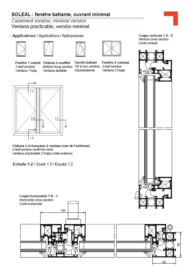 FY casement window, minimal version
