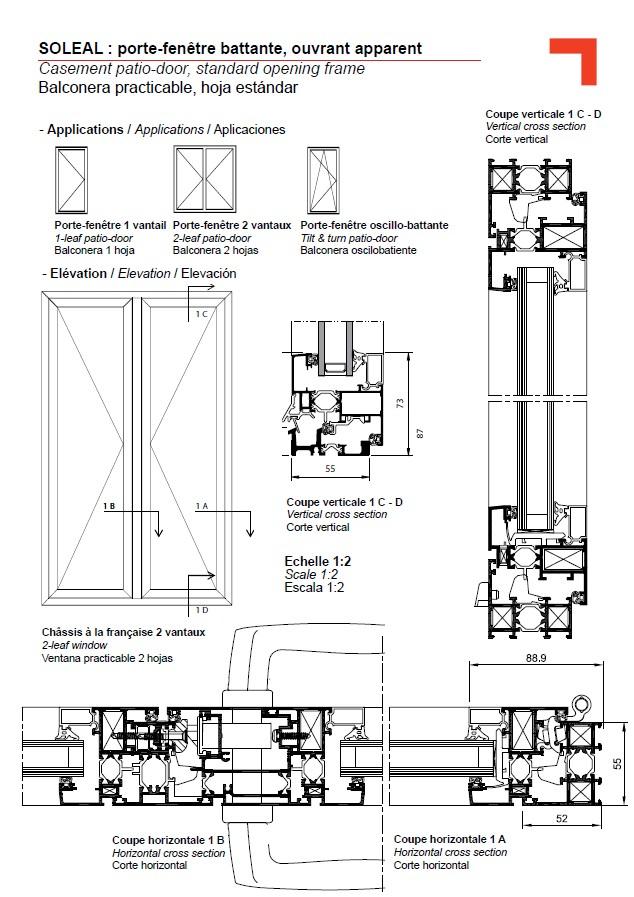 fy patio door standard opening frame. Black Bedroom Furniture Sets. Home Design Ideas