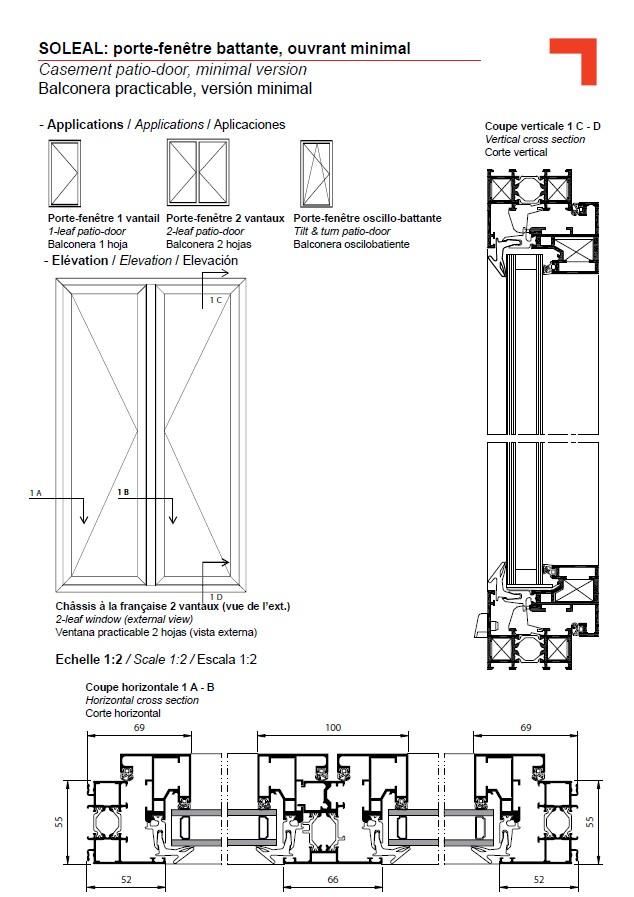 Fy porte fen tre battante ouvrant minimal for Les portes logiques pdf