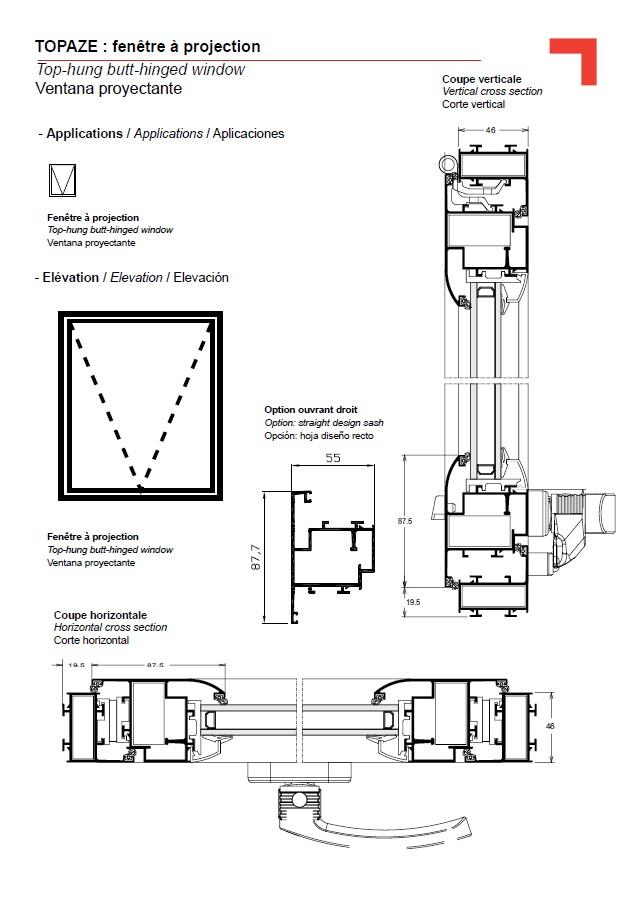 fb ventana proyectante. Black Bedroom Furniture Sets. Home Design Ideas