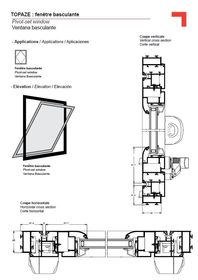Fen tre basculante for Mecanisme porte pivotante