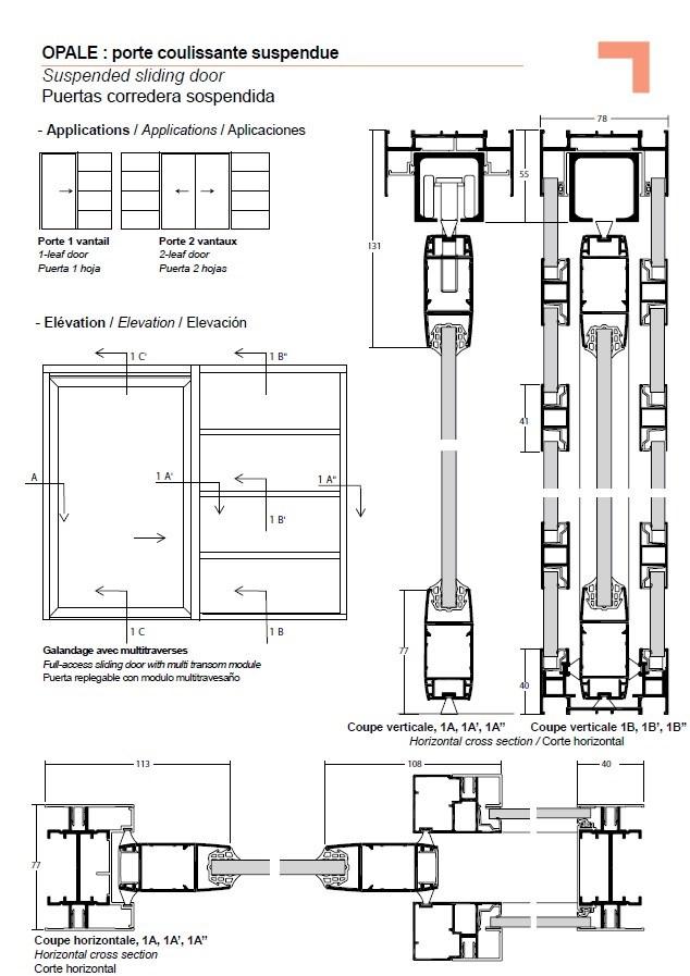 Flush Door Plan Elevation Section : Outstanding sliding door plan elevation images d