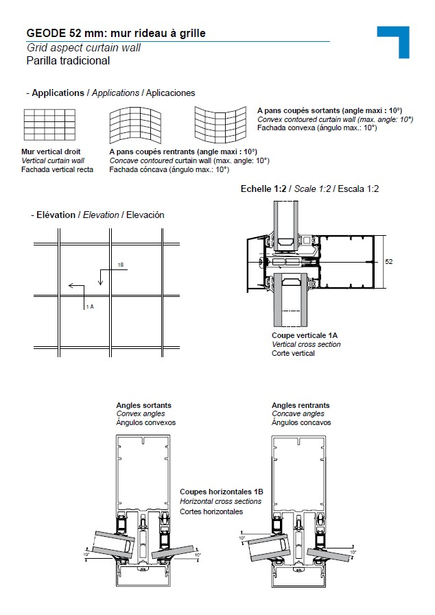 MX grid aspect curtain wall