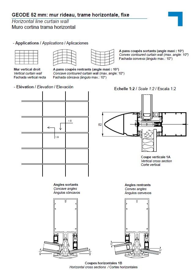 mx mur rideau trame horizontale fixe. Black Bedroom Furniture Sets. Home Design Ideas