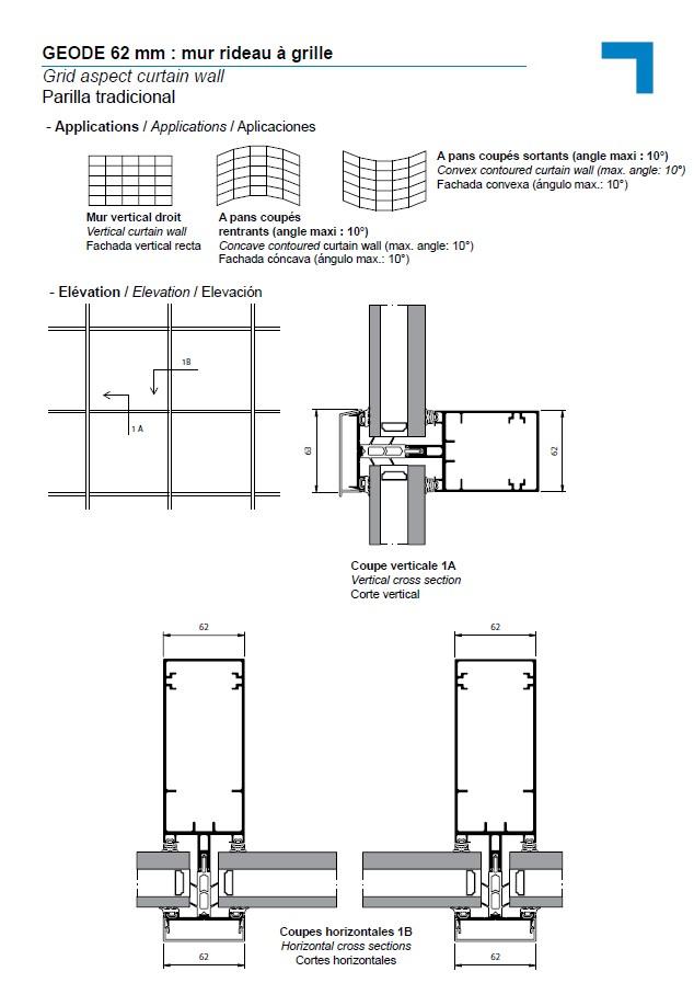 mx 62 mm mur rideau grille. Black Bedroom Furniture Sets. Home Design Ideas