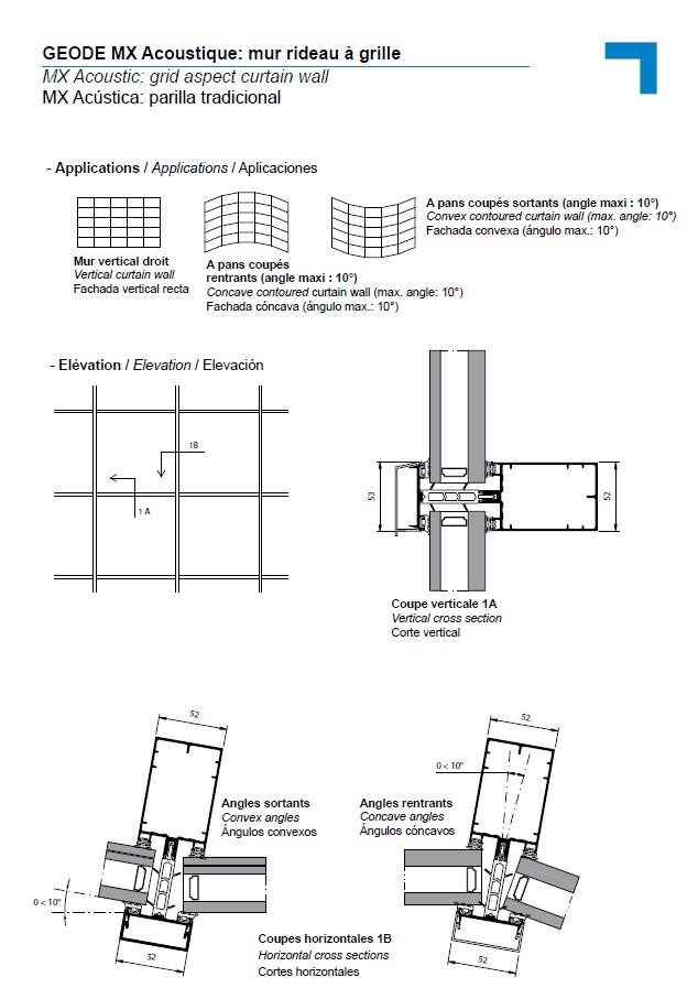 MX Acoustic, Grid Aspect Curtain Wall