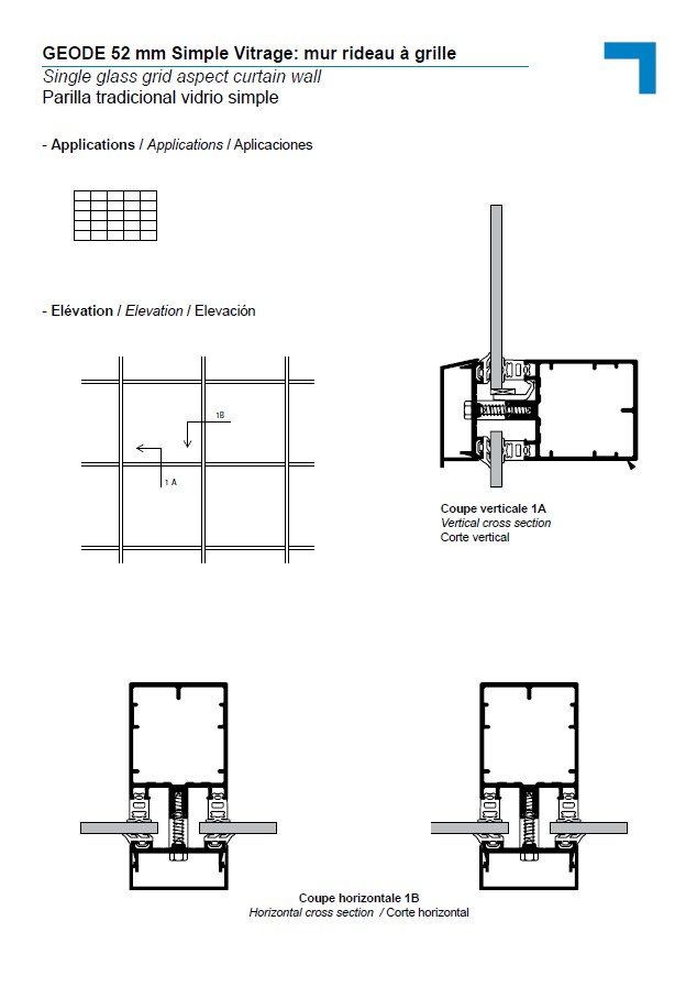 mx simple vitrage mur rideau grille. Black Bedroom Furniture Sets. Home Design Ideas