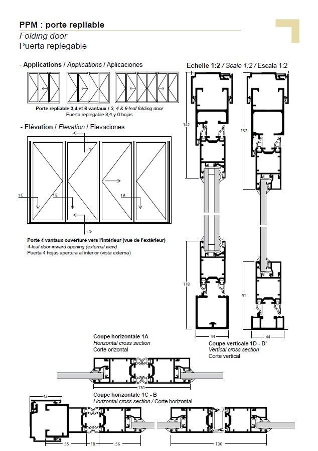 ppm porte repliable. Black Bedroom Furniture Sets. Home Design Ideas