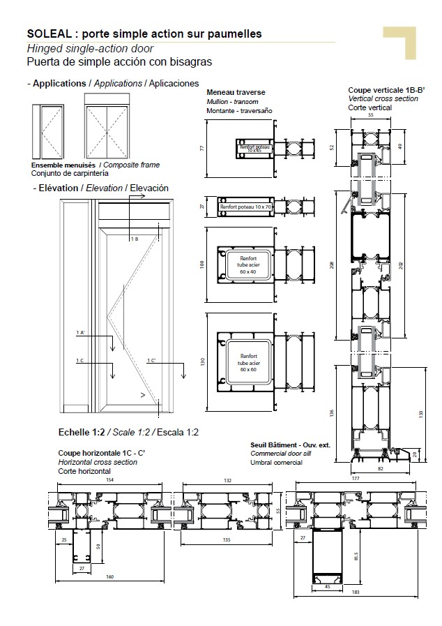 PY hinged single-action door composite frame  sc 1 st  Technal & hinged single-action door composite frame pezcame.com