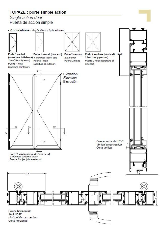 Single-action door  sc 1 st  Technal.com & PB single-action door