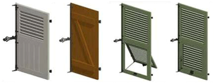 Hinged shutters