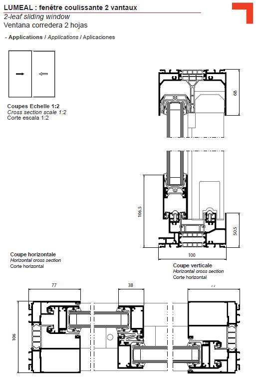ga fen tre coulissante 2 vantaux. Black Bedroom Furniture Sets. Home Design Ideas