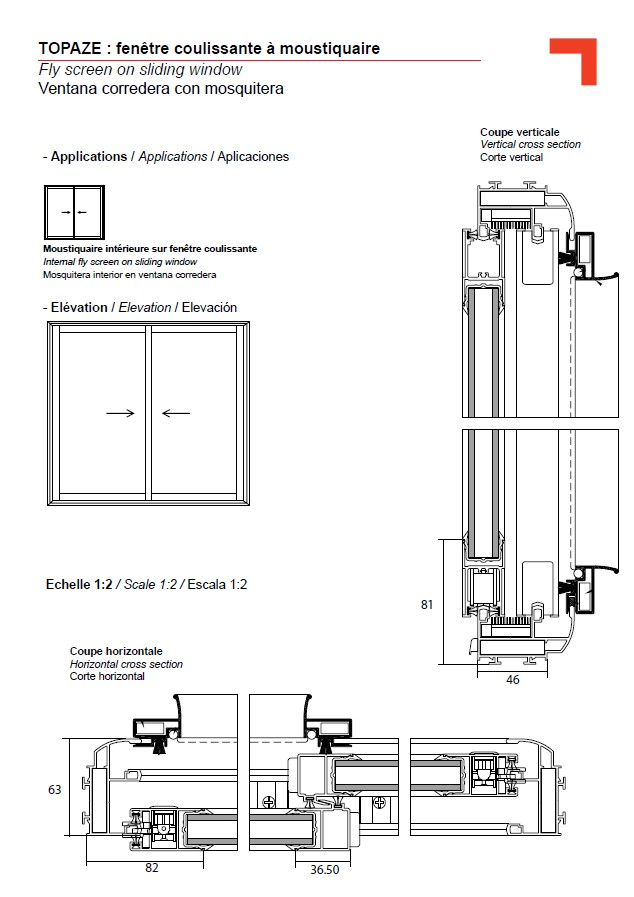 Gb fly screen on sliding window for Centre de liquidation porte et fenetre