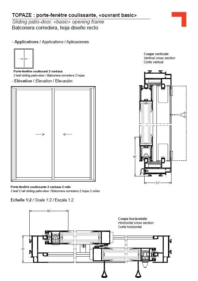GB sliding patio-door, \