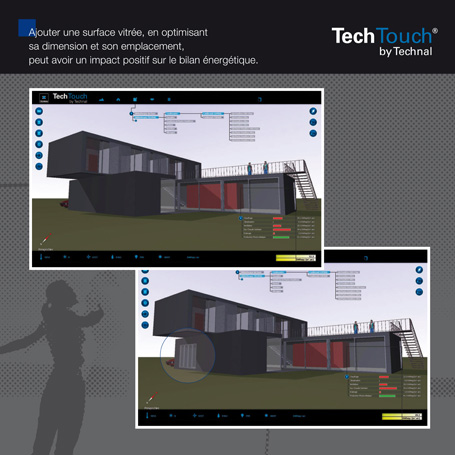 Techtouch by Technal - Logiciel d'aide à la conception bioclimatique