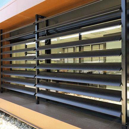 brise soleil lames compos e de 350 mm 600 mm. Black Bedroom Furniture Sets. Home Design Ideas