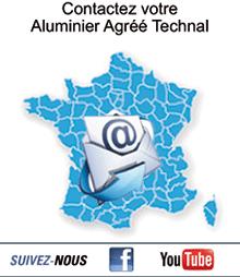 Contactez votre Aluminier Agréé Technal