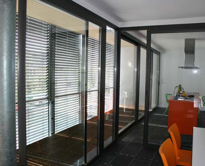 ... galbès : Porte-fenêtre coulissante 2, 3 et 4 vantaux sur 2 rails GXi
