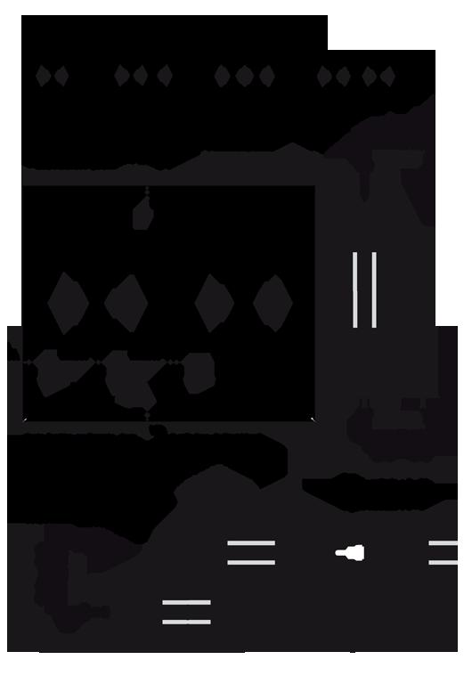 Ouvrants droits porte fen tre coulissante 2 3 et 4 vantaux sur 2 rails gxi - Porte coulissante double vantaux ...