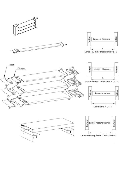 brise soleil lames monoblocs de 100 mm 300 mm pose. Black Bedroom Furniture Sets. Home Design Ideas