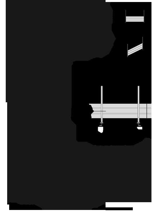 Lisses rectangulaires toute hauteur main courante d port e technal - Hauteur main courante ...