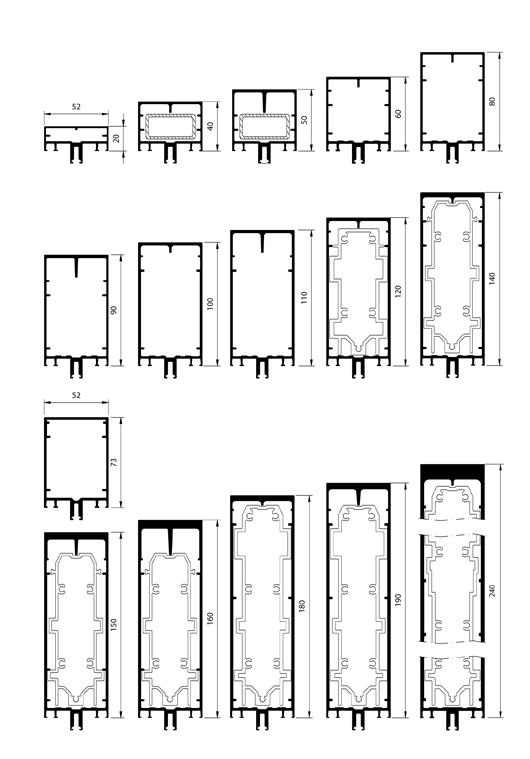 Profil s de structure for Bloc autocad fenetre