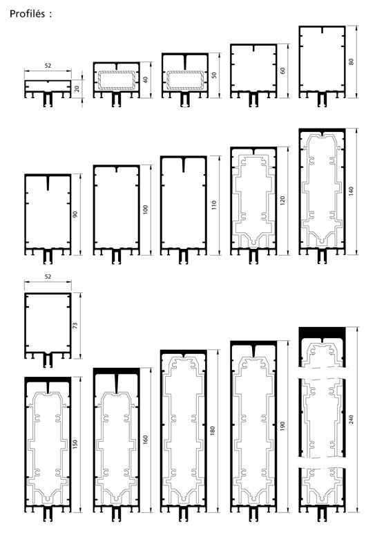 profil s de structure serreur filant. Black Bedroom Furniture Sets. Home Design Ideas