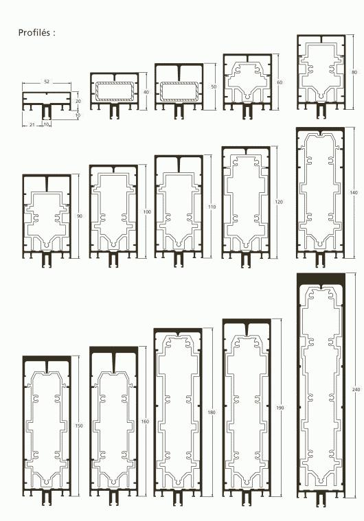 profil s de structure technal. Black Bedroom Furniture Sets. Home Design Ideas