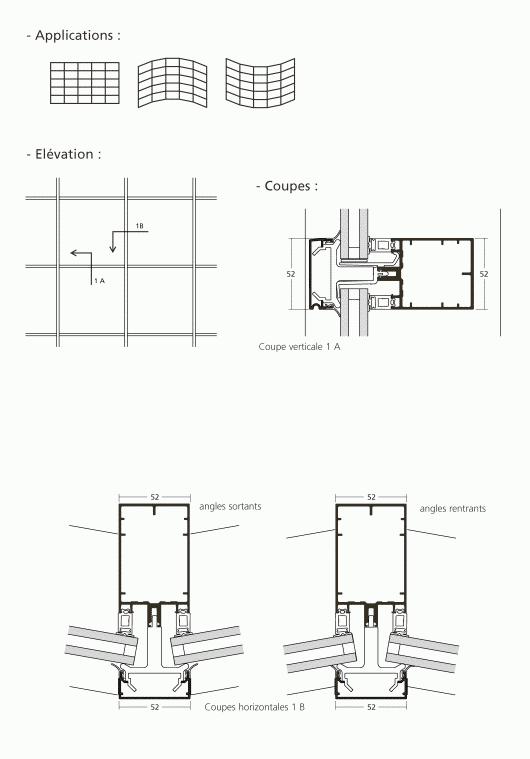 mur rideau grille. Black Bedroom Furniture Sets. Home Design Ideas