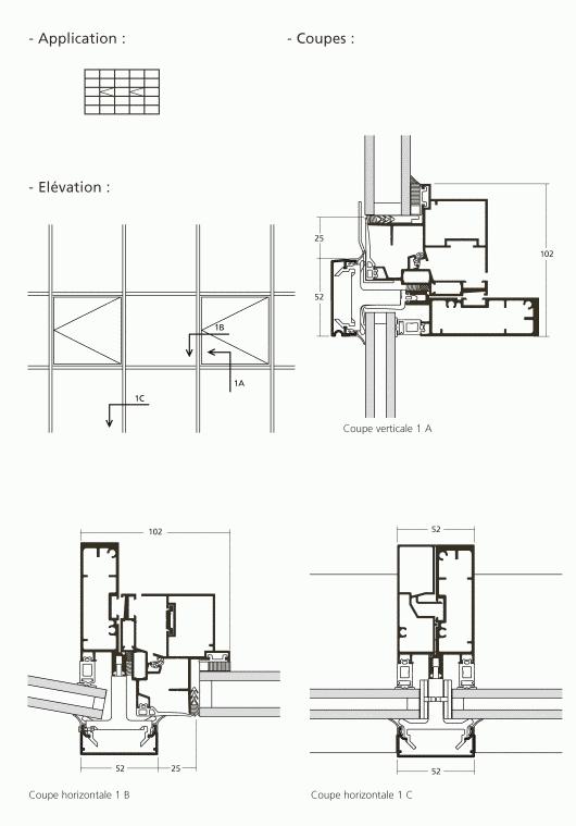 mur rideau ouvrant acc s pompier. Black Bedroom Furniture Sets. Home Design Ideas