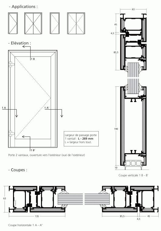 Simpe action 1 vantail et 2 vantaux for Les portes logiques pdf