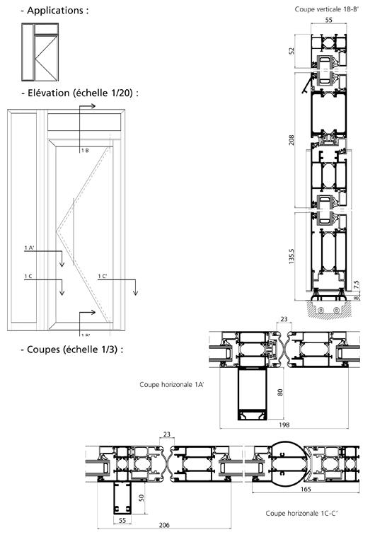 Porte tube apd ensembles menuis s for Porte 3d dwg