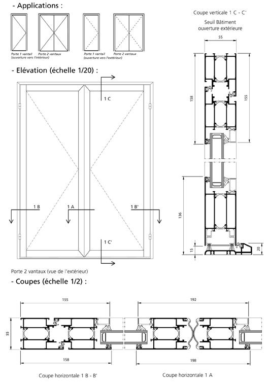 porte simple action sur paumelles ouverture simultan e. Black Bedroom Furniture Sets. Home Design Ideas
