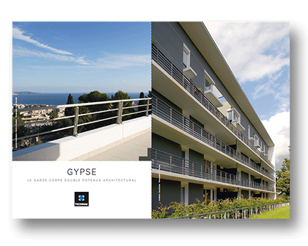 Gypse, le garde-corps double poteau architectural