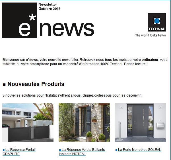 e-news Octobre 2015