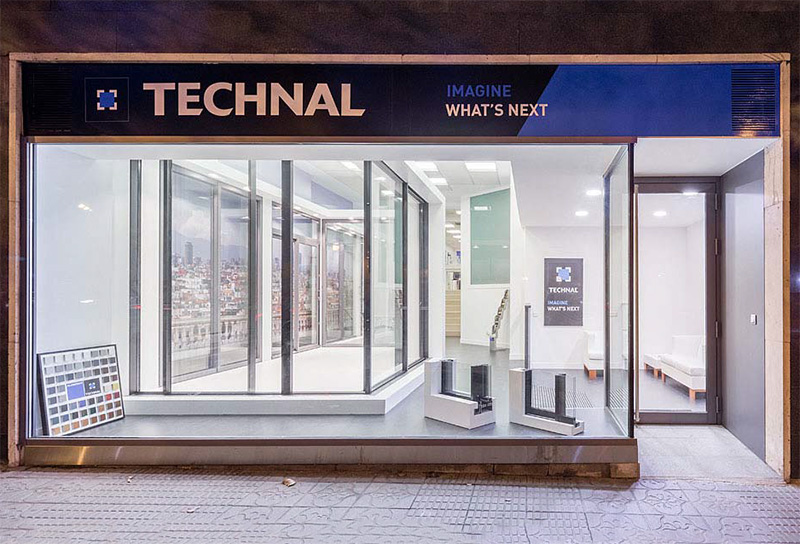 technal estrena showroom en el centro de madrid