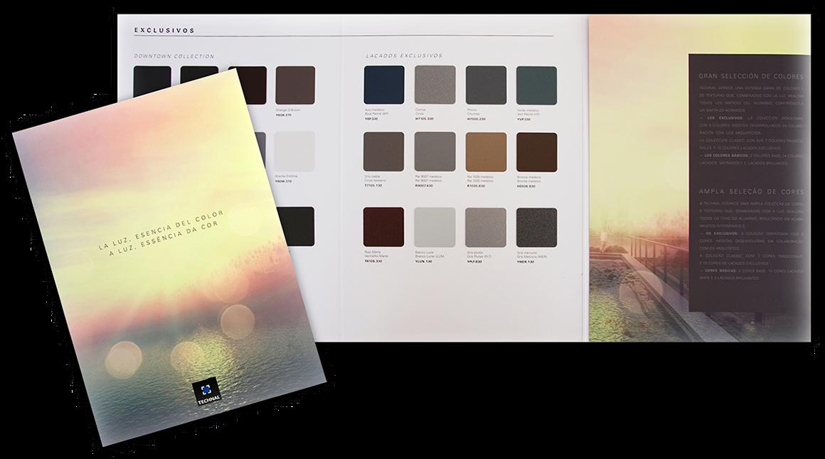 cabe destacar que la oferta de colores de technal tambin est disponible en bicoloracin que permite disponer de dos colores diferentes en